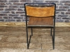 vintage 1950s stacking metal chairs