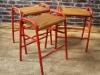 retro stacking lab stools
