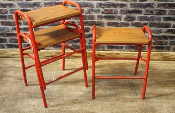wooden lab stools