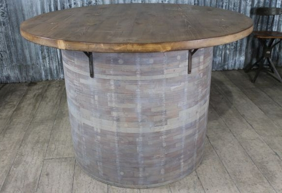 High Quality Large Pine Barrel Table