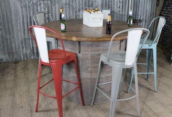 pine barrel table