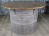 large pine barrel table