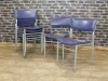 grey purple vintage stacking chairs