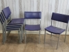 stackable vintage cafe dining chairs