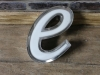 small letter e wall sign