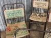 hessian vintage chair