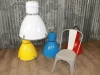 coloured industrial lights
