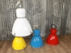 large coloured retro industrial lighting