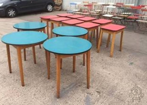 Retro Formica Top Tables Vintage Restaurant