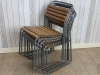 grey vintage slatted chair