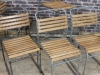 stacking chair slatted
