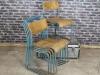 plywood vintage blue chair