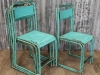 Rustic green stacking chair.jpg