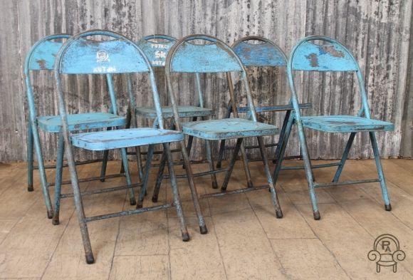 Blue Urban Folding Chairs