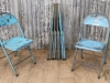 Industrial folding blue chair.jpg