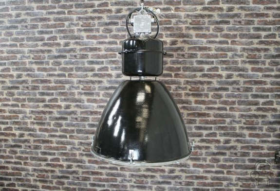 black industrial light