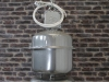 large silver industrial lights