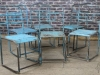 vintage industrial metal chairs