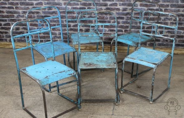 Exceptionnel Industrial Vintage Metal Chairs