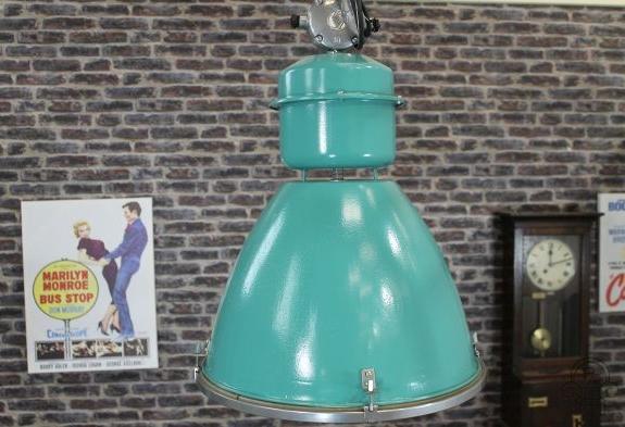 green industrial light