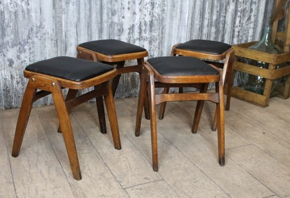 vintage wooden stools