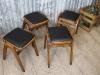 black vintage stools
