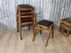 vintage black stools