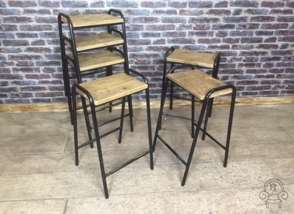 SC470 Vintage BLACK lab stools crop.jpg & VINTAGE INDUSTRIAL STOOLS BLACK STACKING LAB islam-shia.org