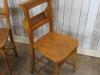 pale vintage chapel chair