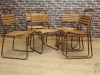 copper finish stacking chairs