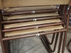 original slatted stacking chairs