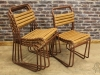 retro wood and metal chairs