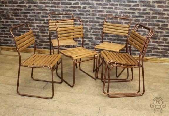 vintage slatted chair