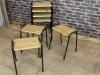 original vintage lab stools