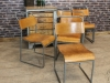metal stacking chair