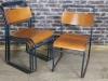 vintage metal stacking chairs