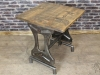 vintage pine top restaurant table