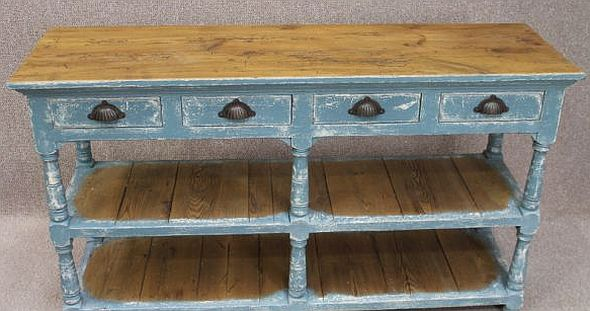shabby chic sideboard a wonderful rustic piece with four drawers and. Black Bedroom Furniture Sets. Home Design Ideas