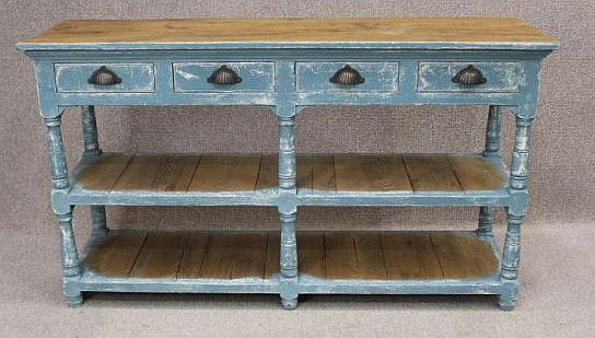 Shabby chic sideboard, a wonderful rustic piece with four drawers and