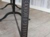 cast iron leg table