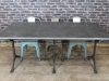 industrial cast iron base table