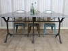 industrial stone top restaurant table