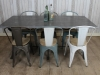 large industrial kitchen table