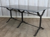 vintage industrial cast iron table
