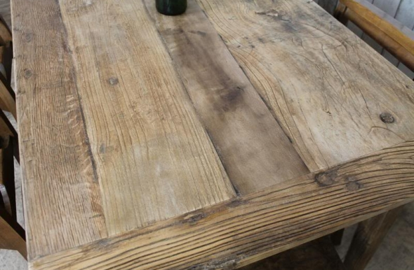RECLAIMED ELM FAMILY KITCHEN DINING TABLEVintage Industrial Retro