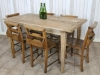 reclaimed elm farmhouse dining table
