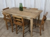 rustic family farmhouse dining table