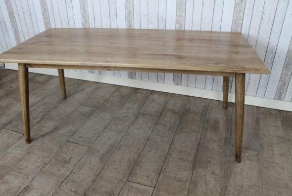 Scandinavian style reclaimed oak dining table - Scandinavian kitchen table ...