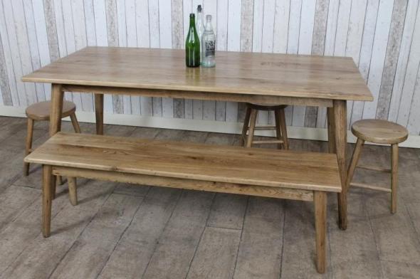 Scandinavian style reclaimed oak dining table - Scandinavian style dining table ...