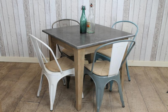 Square Stone Top Cafe Restaurant Tables Vintage